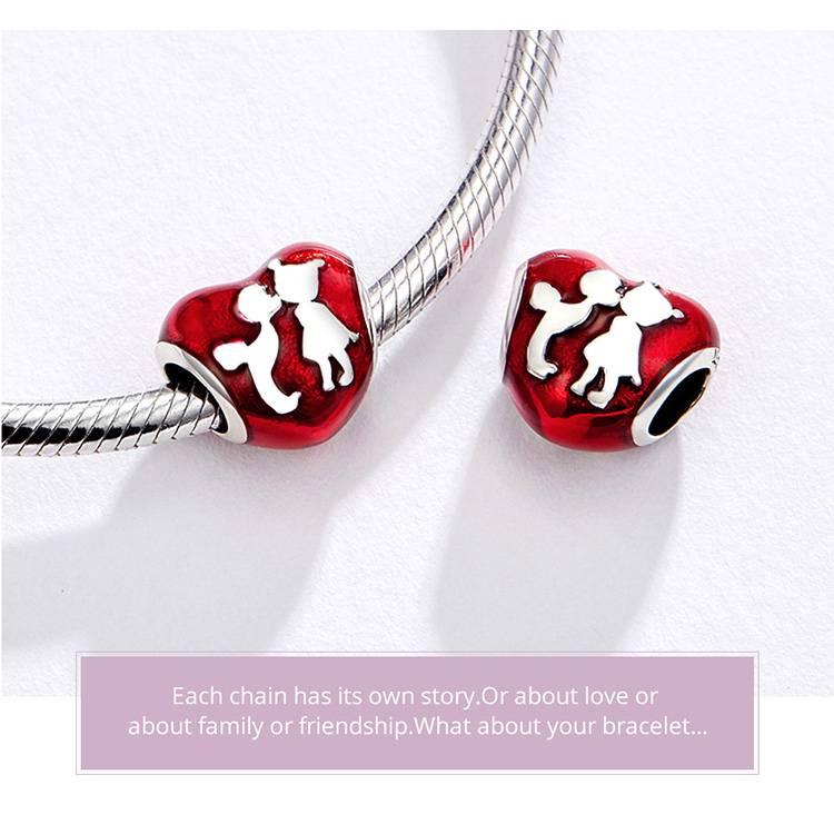 Silver Heart DIY Shape Charm Bracelet Best Deals Bracelets & Bangles New Arrivals Women's Jewelry