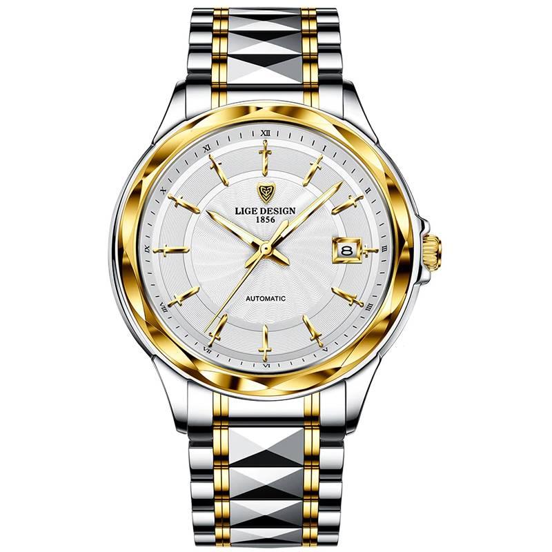 New 2021 LIGE Mechanical Watch Tungsten Steel Watches For Men